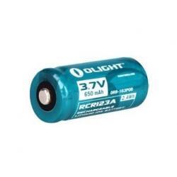 Olight, akumulator litowo-jonowy RCR123 3,7V, pojemność 650mAh.