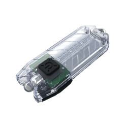 Nitecore TUBE, latarka brelokowa, 45lm, Transparent