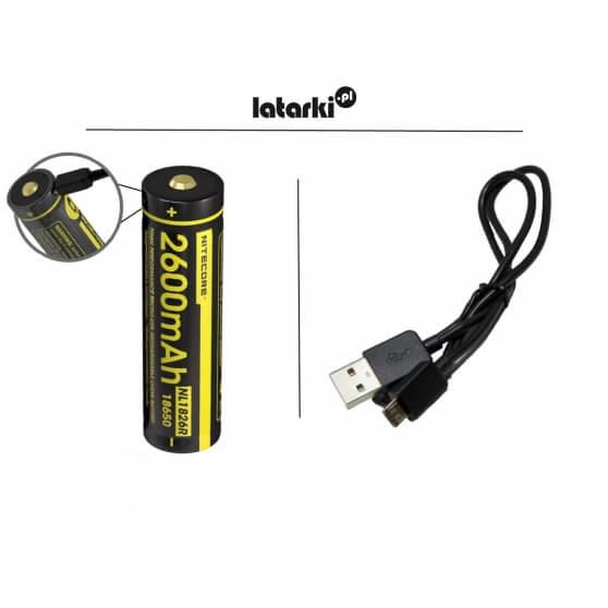 Akumulator Nitecore, 18650 USB, 2600mAh
