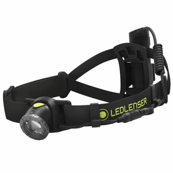 NEO10R, latarka czołowa do biegania, 600 lm, black