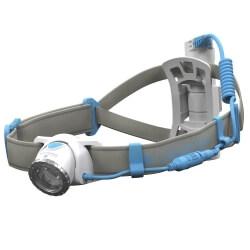 NEO10R, latarka czołowa do biegania, 600 lm, blue