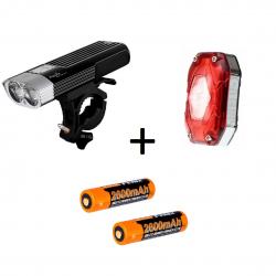Fenix BC30 + Moon Shield-X Auto+ARB-L18, zestaw lamp rowerowych