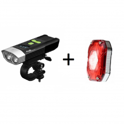 Fenix BC30R + Moon Shield X Auto, zestaw lamp rowerowych