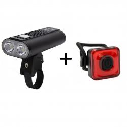 Mactronic Rifle + Reddy 1.1, zestaw lamp rowerowych
