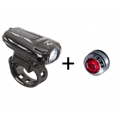 Moon Meteor + Merak, zestaw lamp rowerowych