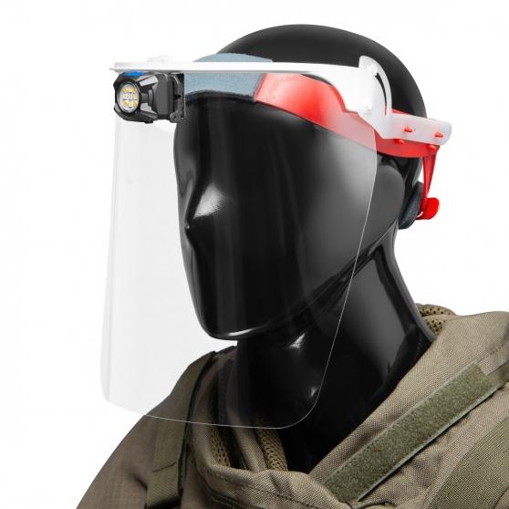 Mactronic Rebel Mask, przyłbica ochronna z oświetleniem, 400 lm