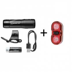 Mactronic Scream 3.2 + Walle, zestaw lamp rowerowych