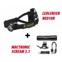 Ledlenser NEO10R + Mactronic Scream 3.1, latarka czołowa + rowerowa