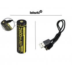Akumulator Nitecore 1826R, 18650 USB, 2600mAh