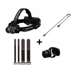 Latarka Ledlenser H19R Core + montaż na rower i kask + kabel